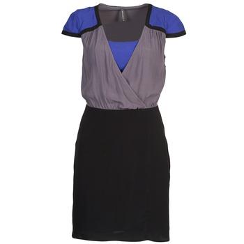 Oblačila Ženske Kratke obleke Naf Naf LYFAN Črna / Siva / Modra