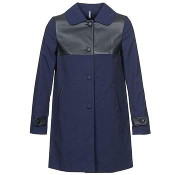 Oblačila Ženske Plašči Naf Naf BAUNS Modra