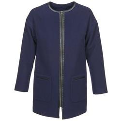 Oblačila Ženske Plašči Naf Naf ALYSON Modra