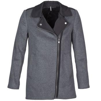 Oblačila Ženske Plašči Naf Naf ARNO Siva / Črna