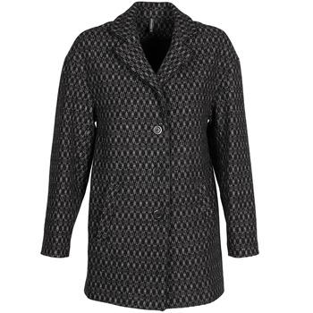 Oblačila Ženske Plašči Naf Naf AKLAPA Črna