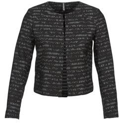 Oblačila Ženske Jakne & Blazerji Naf Naf LYMINIE Siva / Črna