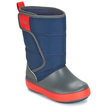 Čevlji  Otroci Škornji za sneg Crocs LODGEPOINT SNOW BOOT K Modra