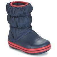 Čevlji  Dečki Škornji za sneg Crocs WINTER PUFF BOOT KIDS Modra