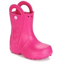 Čevlji  Deklice škornji za dež  Crocs HANDLE IT RAIN BOOT Rožnata