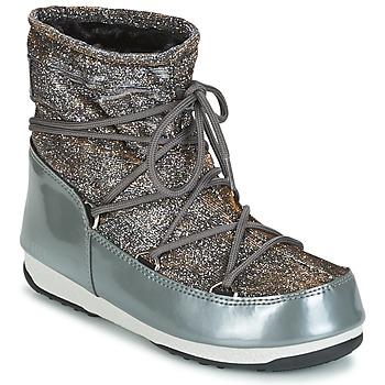 Čevlji  Ženske Škornji za sneg Moon Boot MOON BOOT WE LOW LUREX Siva / Srebrna