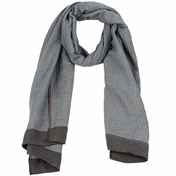 Tekstilni dodatki Ženske Šali & Rute Antik Batik ZOE Modra / Kostanjeva