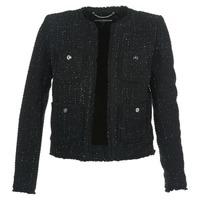 Oblačila Ženske Jakne & Blazerji MICHAEL Michael Kors FRAY TWD 4PKT JKT Črna / Srebrna