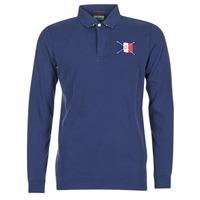 Oblačila Moški Polo majice dolgi rokavi Serge Blanco POCHON Modra