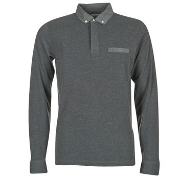 Oblačila Moški Polo majice dolgi rokavi Serge Blanco POCHA Črna / Siva
