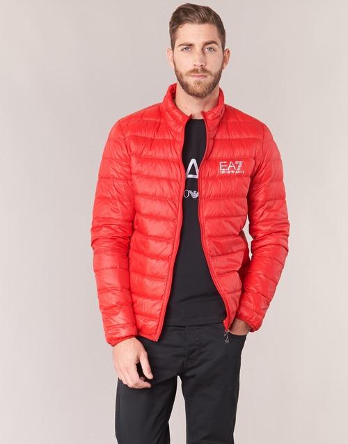 Oblačila Moški Puhovke Emporio Armani EA7 TRAIN CORE ID DOWN LIGHT JKT Rdeča