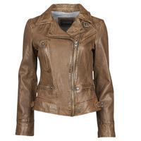 Oblačila Ženske Usnjene jakne & Sintetične jakne Oakwood VIDEO Cognac