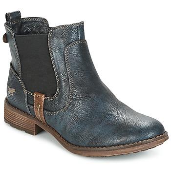 Čevlji  Ženske Polškornji Mustang NANI Modra