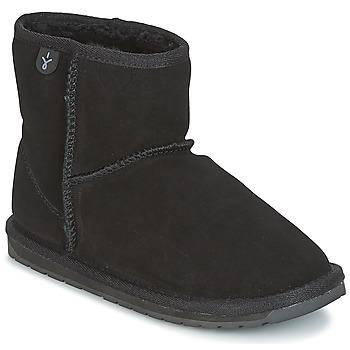 Čevlji  Deklice Polškornji EMU WALLABY MINI Črna