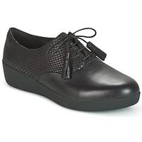 Čevlji  Ženske Čevlji Derby FitFlop CLASSIC TASSEL SUPEROXFORD Črna / Snake