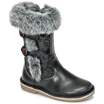 Čevlji  Deklice Mestni škornji    Citrouille et Compagnie HOSY Črna