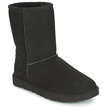 Čevlji  Ženske Polškornji UGG CLASSIC SHORT II Črna