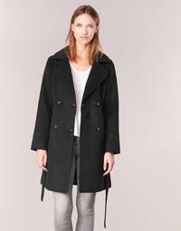 Oblačila Ženske Plašči Casual Attitude HALLOA Črna