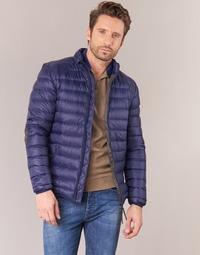 Oblačila Moški Puhovke Vicomte A. DOUDOUNE HOMME MANCHES LONGUES NAVY Modra