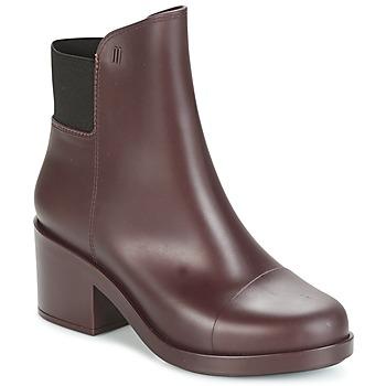 Čevlji  Ženske Gležnjarji Melissa ELASTIC BOOTS Bordo