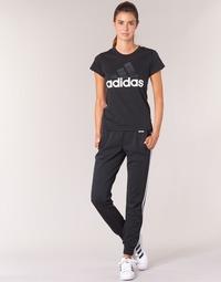 Oblačila Ženske Spodnji deli trenirke  adidas Performance ESS 3S PANT CH Črna