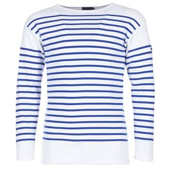 Oblačila Moški Majice z dolgimi rokavi Armor Lux AMIRAL Bela / Modra