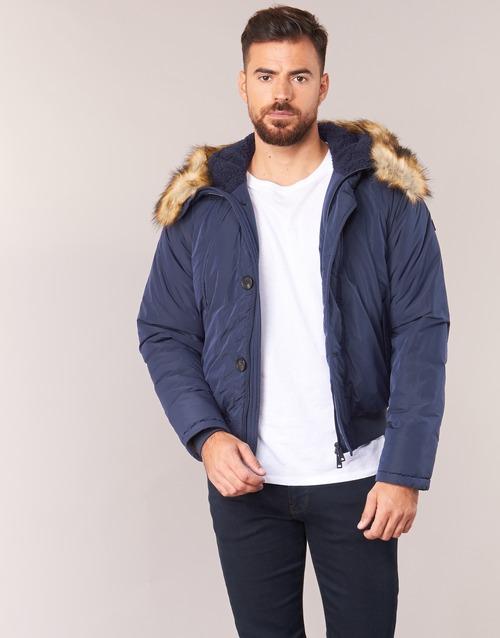 Oblačila Moški Puhovke Armani jeans GNAN Modra