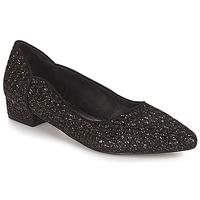 Čevlji  Ženske Balerinke Ravel  Črna-glitter