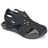 Čevlji  Otroci Natikači Nike SUNRAY PROTECT 2 TODDLER Črna / Bela