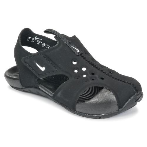 Čevlji  Otroci Sandali & Odprti čevlji Nike SUNRAY PROTECT 2 TODDLER Črna / Bela