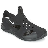 Čevlji  Otroci Natikači Nike SUNRAY PROTECT 2 CADET Črna / Bela