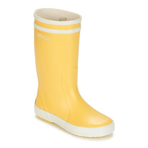 Čevlji  Otroci škornji za dež  Aigle LOLLY POP Rumena / Bela