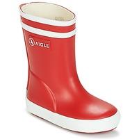 Čevlji  Otroci škornji za dež  Aigle BABY FLAC Rdeča / Bela