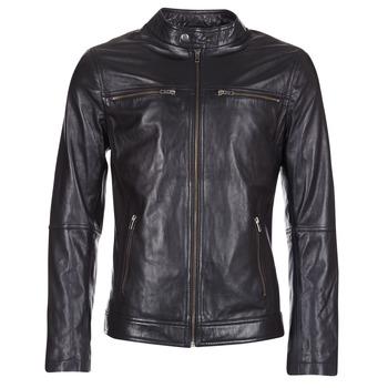 Oblačila Moški Usnjene jakne & Sintetične jakne Yurban IHEXO Črna
