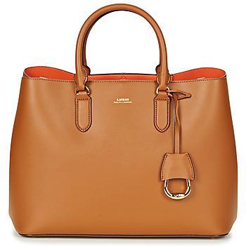 Torbice Ženske Ročne torbice Lauren Ralph Lauren DRYDEN MARCY TOTE Cognac / Oranžna