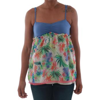 Oblačila Ženske Majice brez rokavov Fornarina VIOLAINE_MULTICOLOR Azul