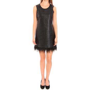 Oblačila Ženske Kratke obleke Liu Jo F65029T8222_22222 Negro