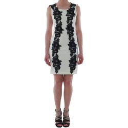 Oblačila Ženske Kratke obleke Rinascimento 1260/16M_PANNA_BIANCO Blanco roto