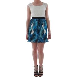 Oblačila Ženske Kratke obleke Rinascimento 1276/16M_BLU Blanco