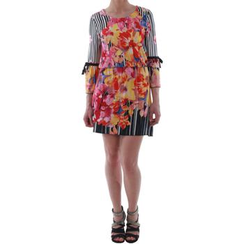 Oblačila Ženske Kratke obleke Rinascimento 1330/13A_BIANCO Estampado