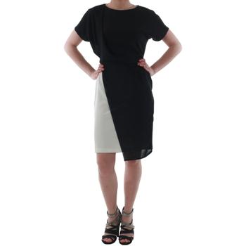 Oblačila Ženske Kratke obleke Rinascimento MIRANDA_BIANCO Negro