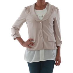 Oblačila Ženske Jakne & Blazerji Rinascimento 1022_BEIGE Beige