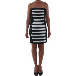 Oblačila Ženske Kratke obleke Rinascimento 322B.012_BIANCO Negro
