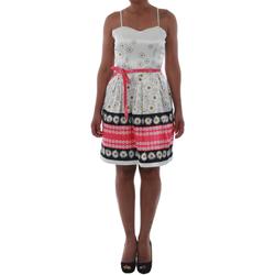 Oblačila Ženske Kratke obleke Rinascimento 1384/16M_FUXIA Blanco