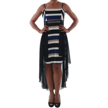 Oblačila Ženske Kratke obleke Rinascimento PAINT/R_BLU Negro