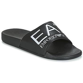 Čevlji  Natikači Emporio Armani EA7 SEA WORLD VISIBILITY M SLIPPER Črna / Bela