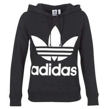 Oblačila Ženske Puloverji adidas Originals TREFOIL HOODIE Czarny
