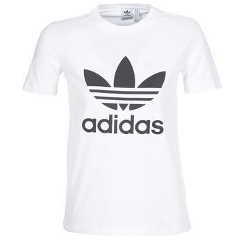 Oblačila Ženske Majice s kratkimi rokavi adidas Originals TREFOIL TEE Bela