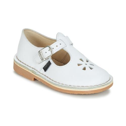 Čevlji  Otroci Balerinke Aster DINGO Bela
