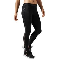 Oblačila Ženske Pajkice Reebok Sport Workout Show Mesh Logo Črna